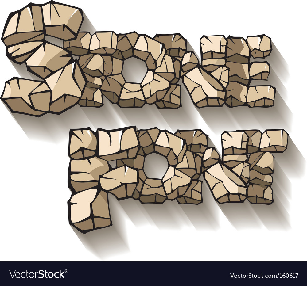 Stone font Vector Image