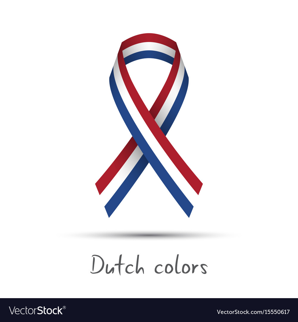 Modern colored ribbon with the dutch tricolor vector image