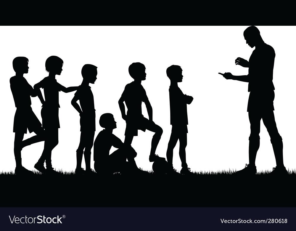 Coaching vector image