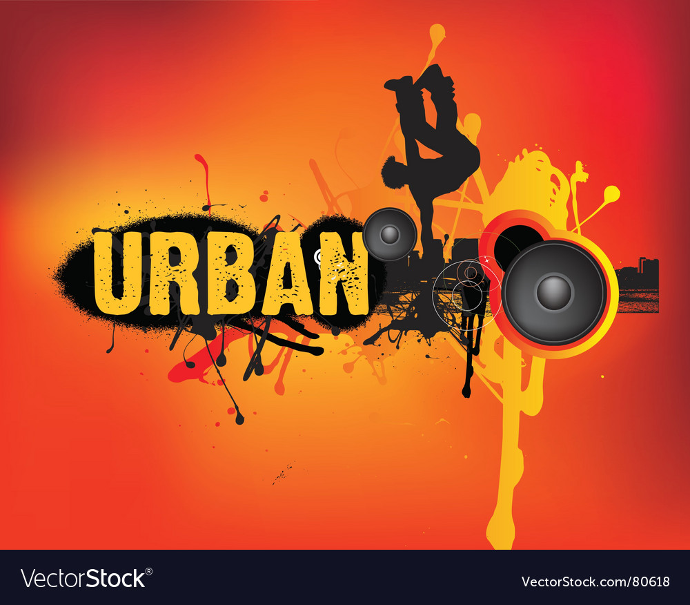 Urban dance vector image