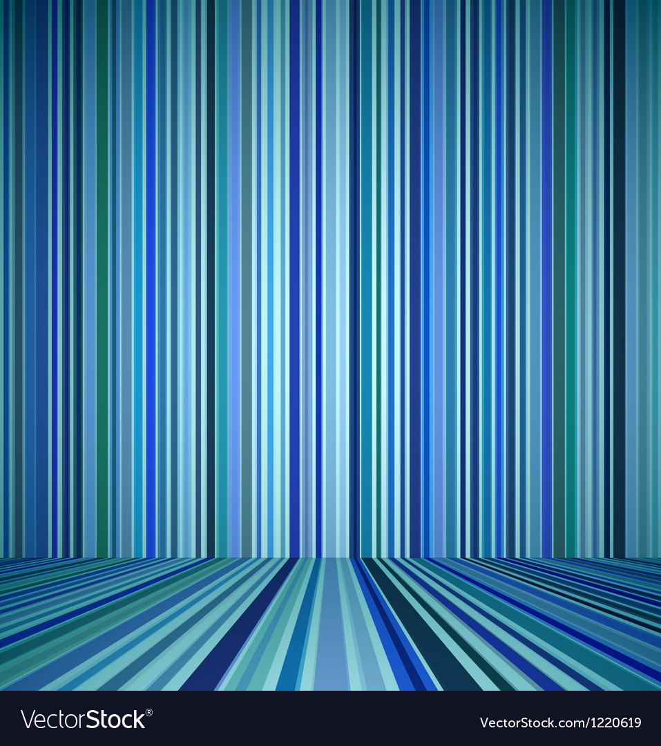 Blue empty room vector image
