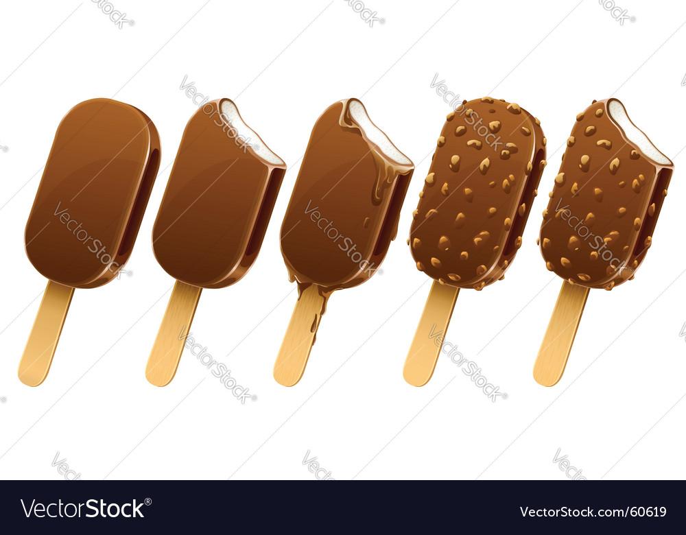 Chocolate ice cream vector image