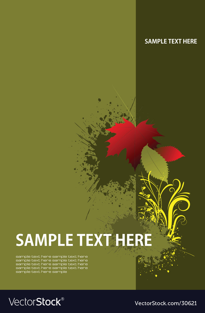 Cover with red leaf vector image