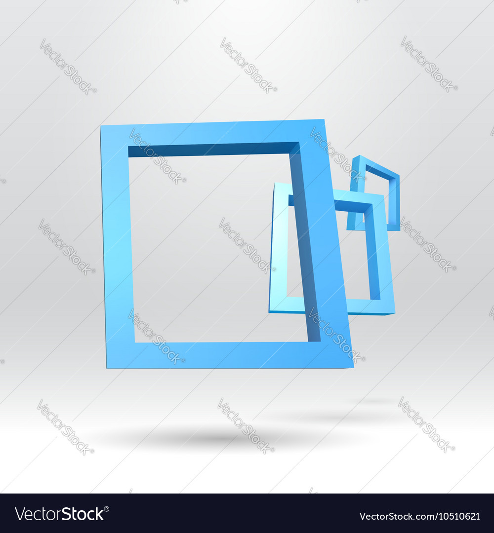Three blue rectangular 3d frames royalty free vector image three blue rectangular 3d frames vector image jeuxipadfo Choice Image