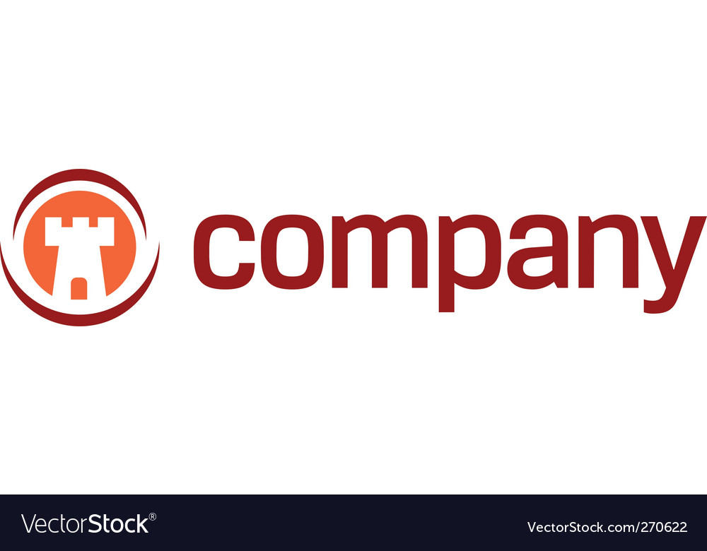 Security tower logo vector image