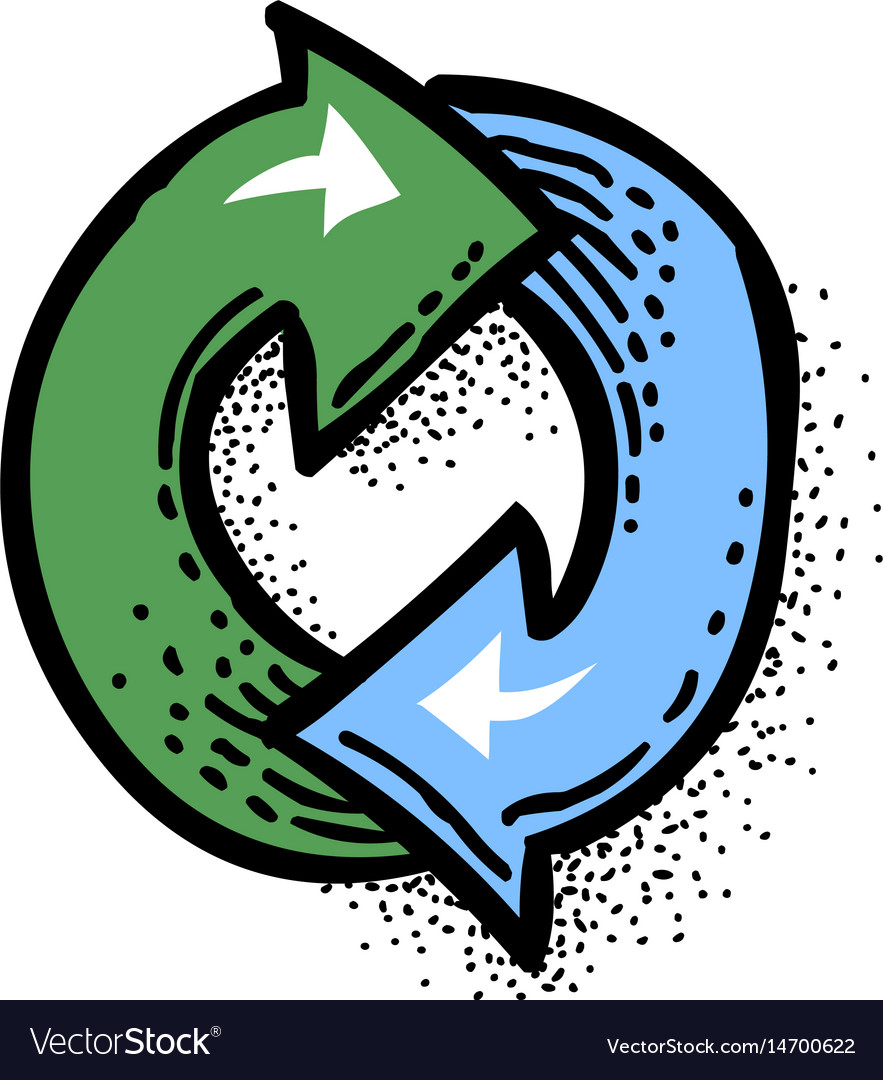 Cartoon image of update icon refresh symbol vector image