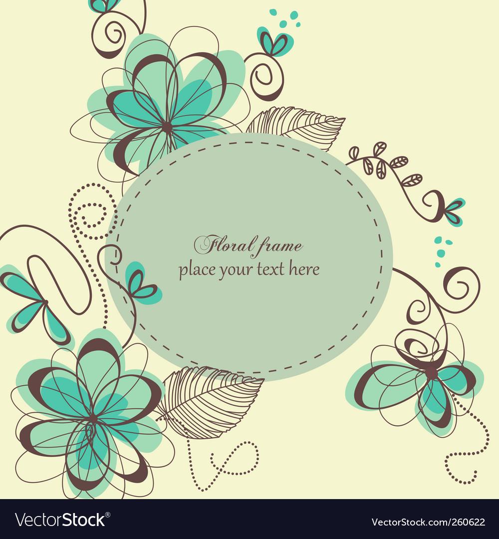 Decorative retro card vector image