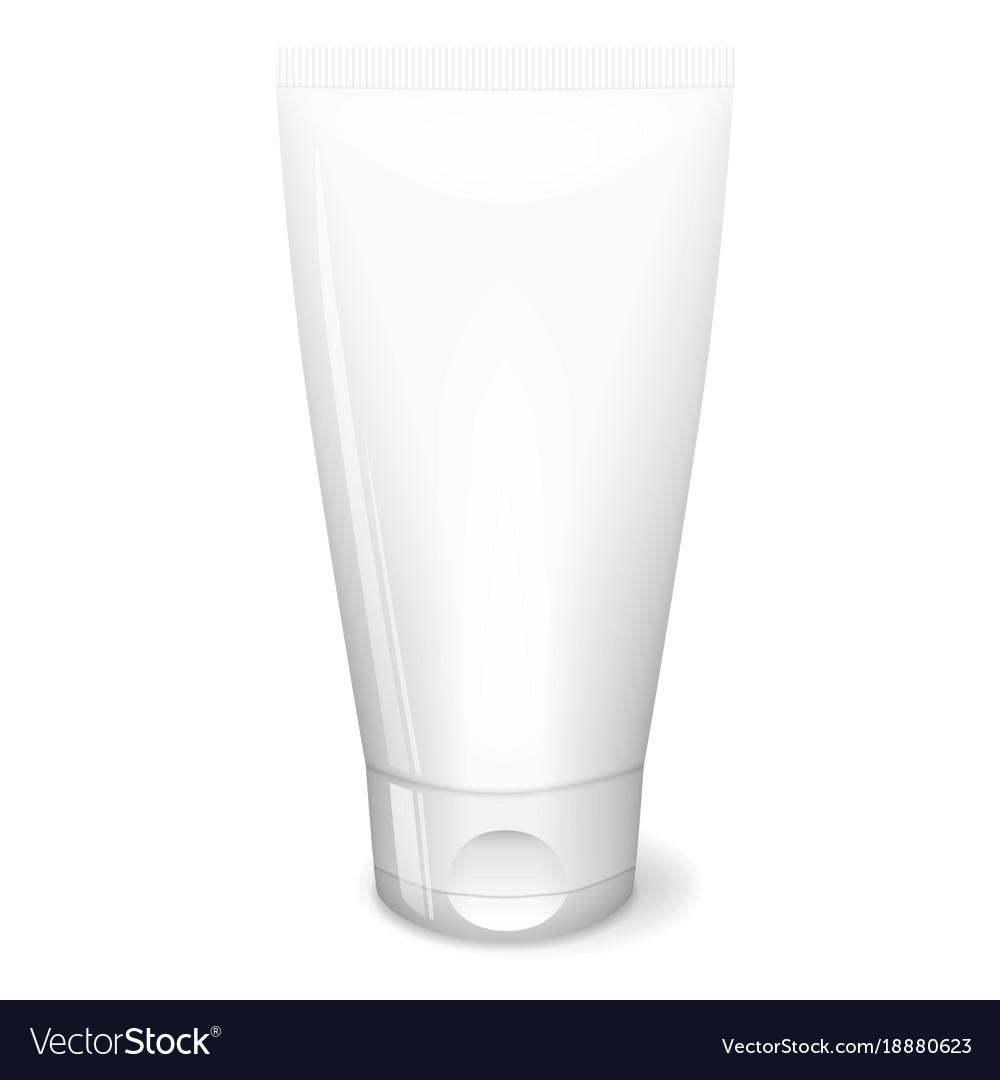White tube cream vector image