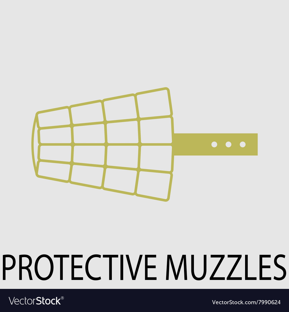 Protection muzzle animal dog vector image