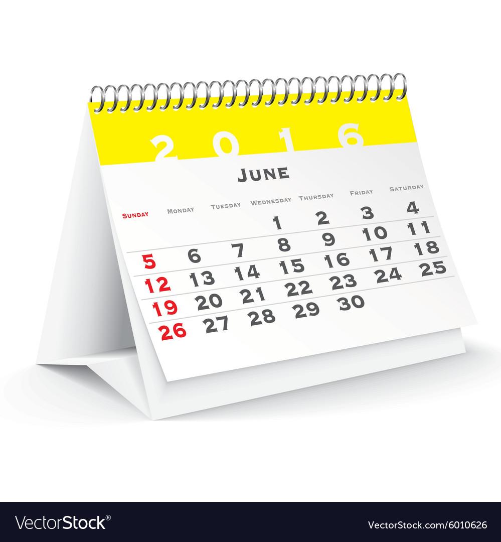 Desk Calendar 2016