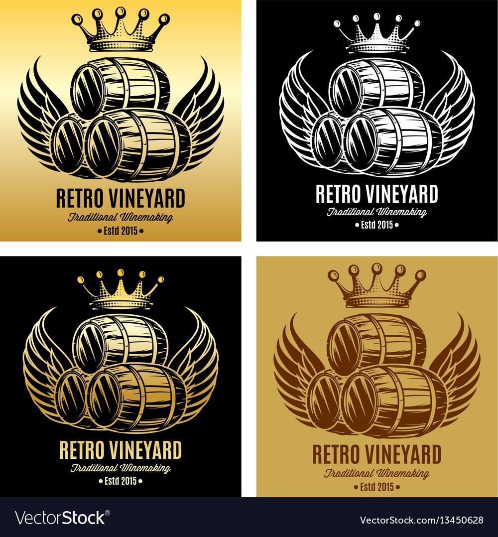 Template for branding beer or wine brand vector image