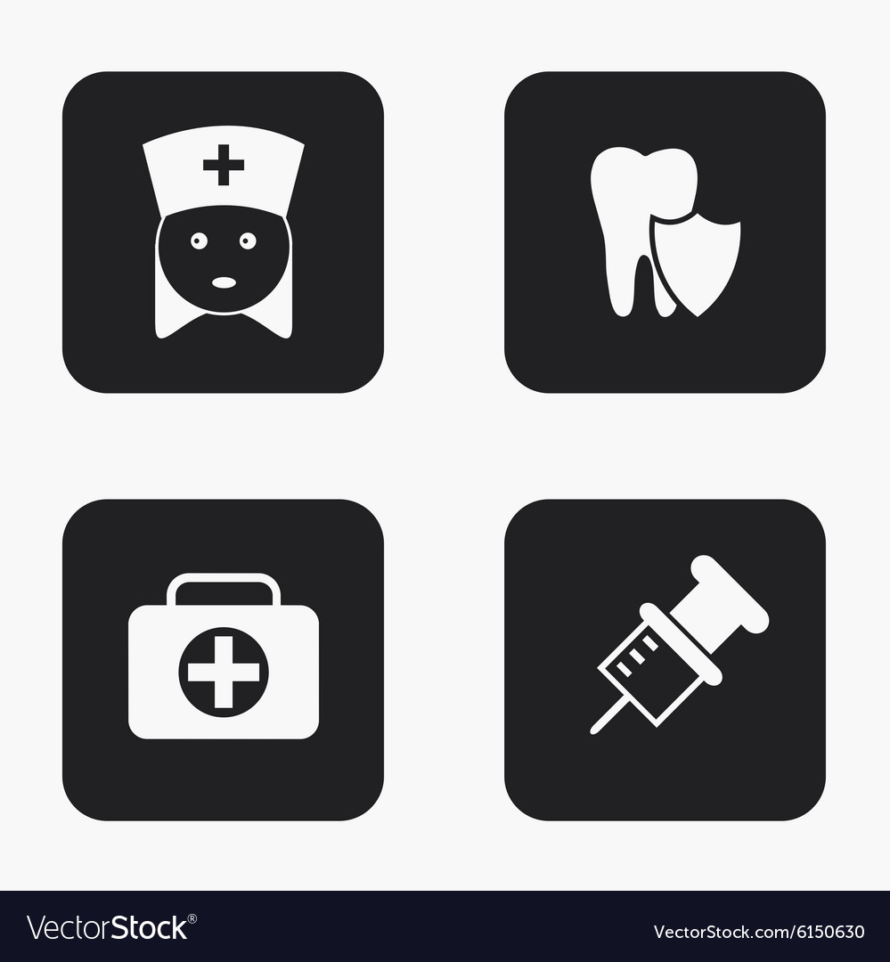 Modern medical icons set vector image