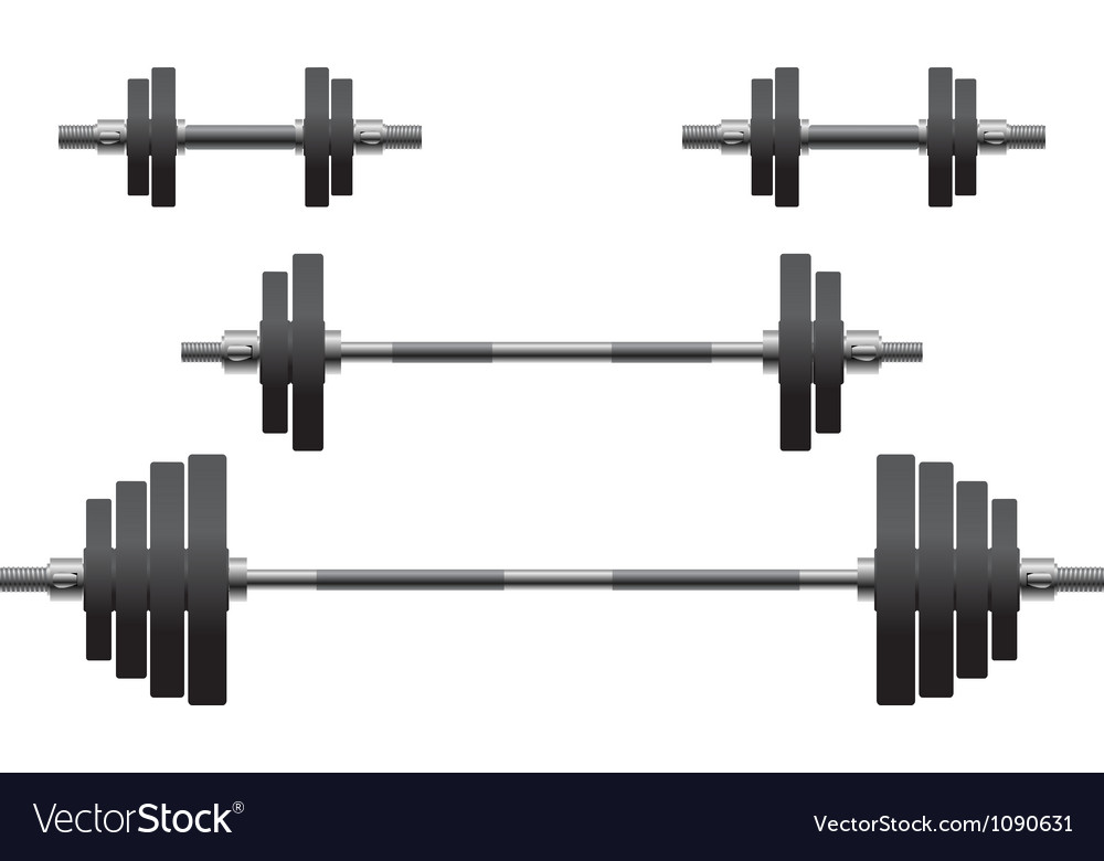 Set of weights second variant vector image