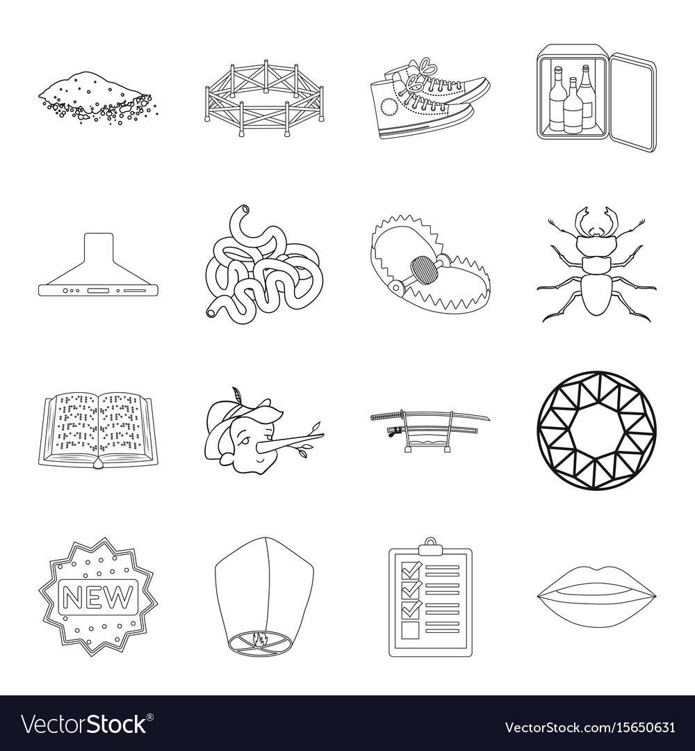 Weapons hunting insect and other web icon in vector image