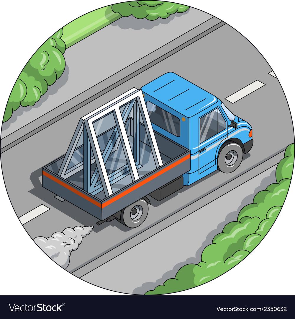 Car carry window vector image