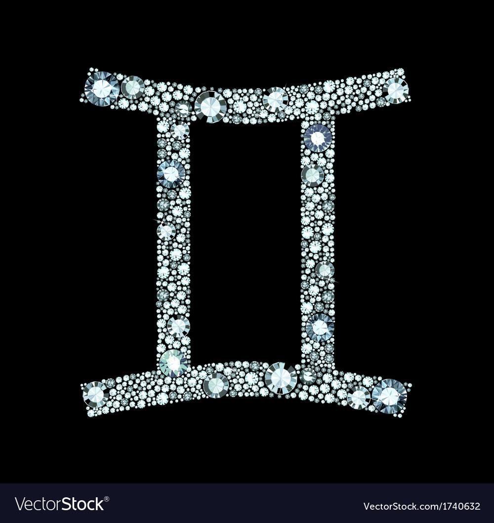 Diamond gemini symbol royalty free vector image diamond gemini symbol vector image buycottarizona