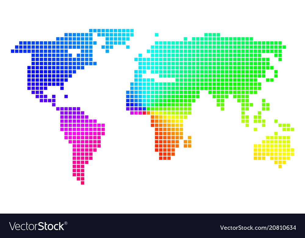 Bright dotted world map royalty free vector image bright dotted world map vector image gumiabroncs Image collections