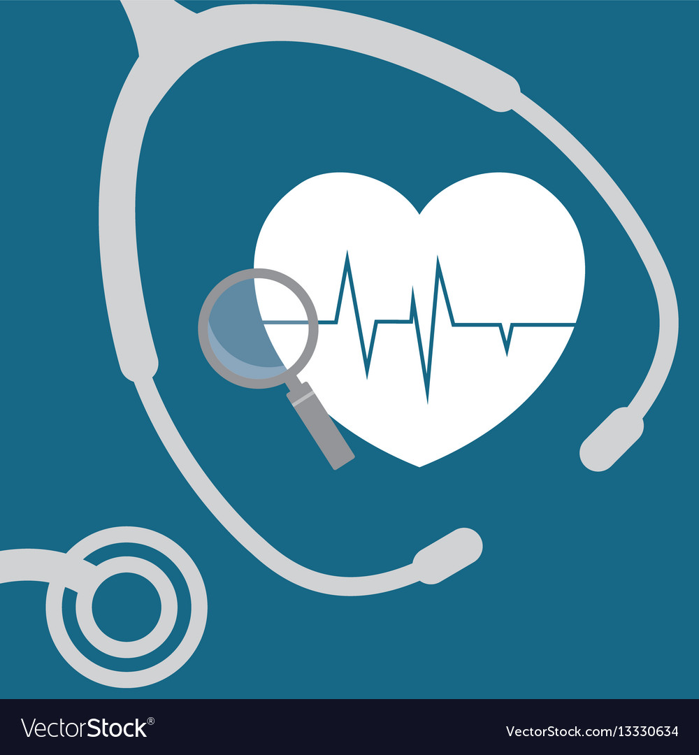Heartbeat search health care vector image