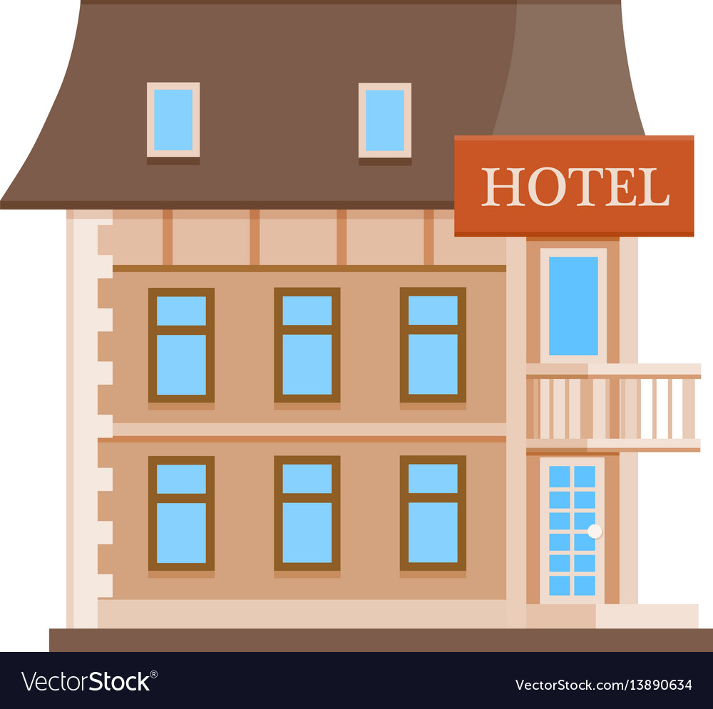 Hotel flat icon vector image