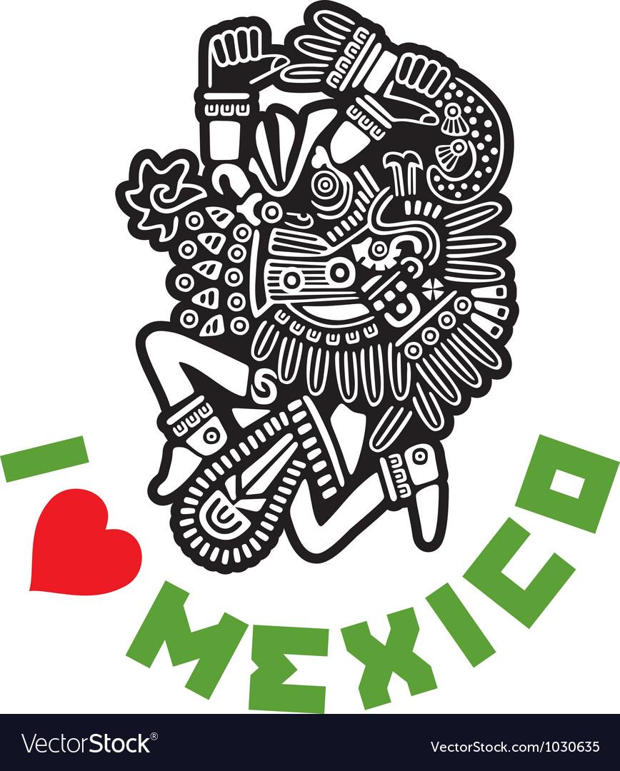 I Love Mexico Template Design vector image