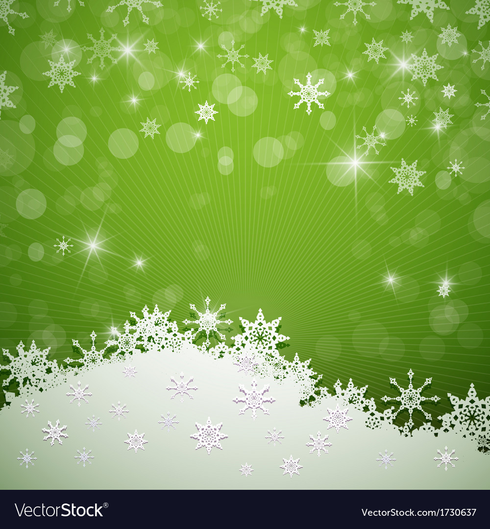 Green Merry Christmas Background vector image