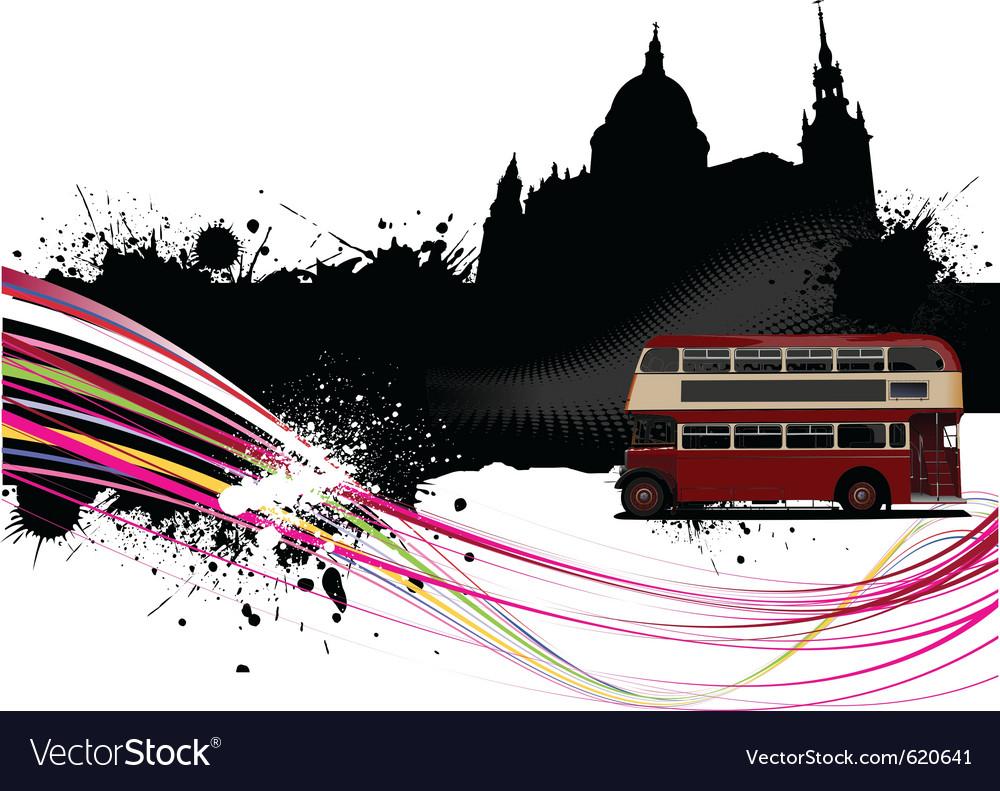 London cityscape vector image