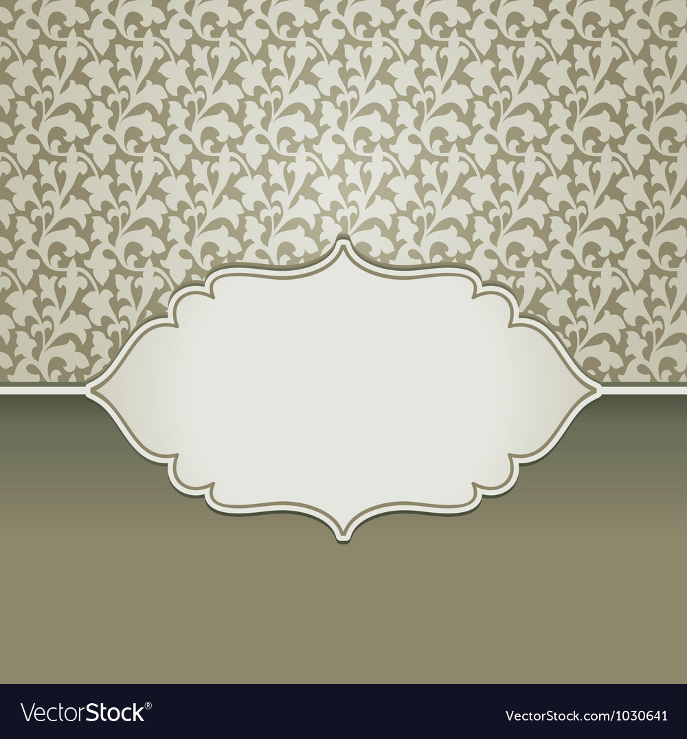 Vintage frame with copy space for text vector image