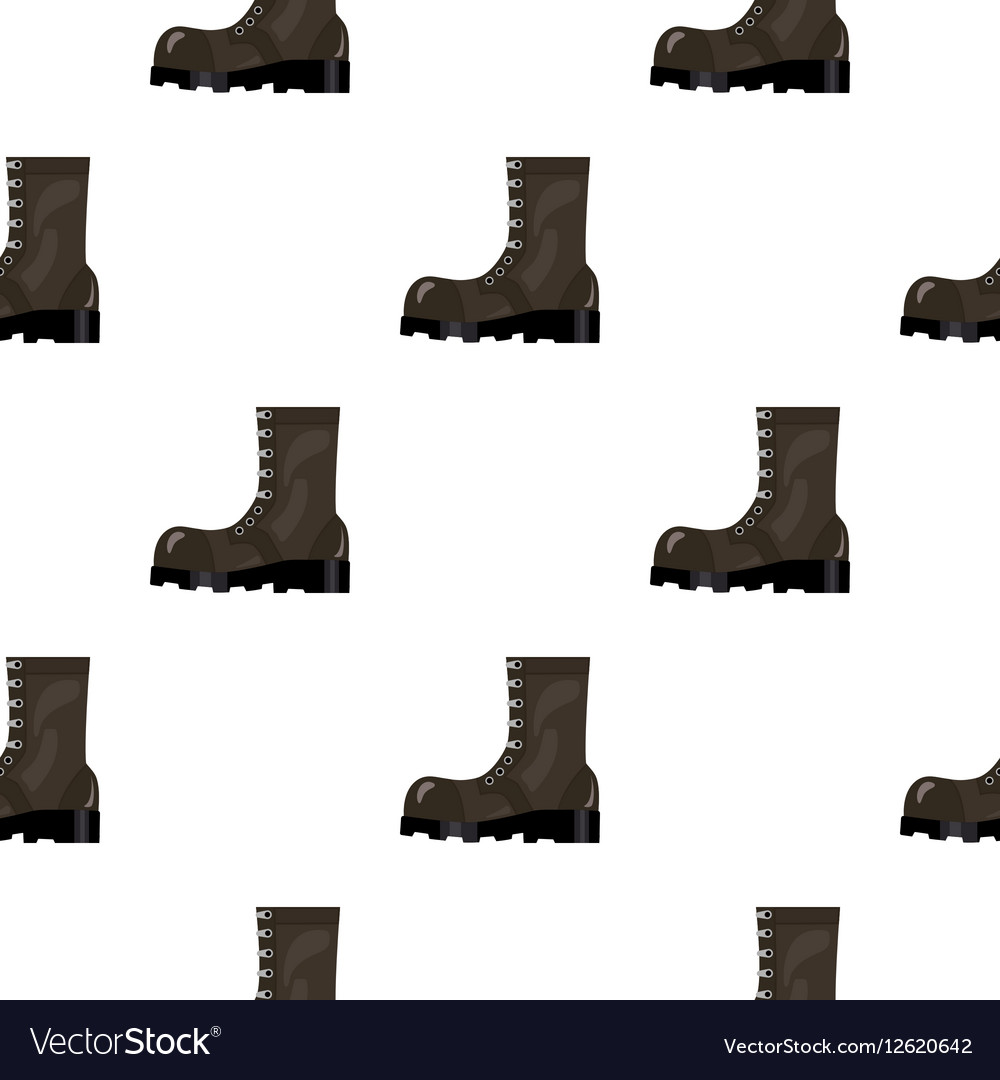 Army combat boots icon in cartoon style isolated vector image