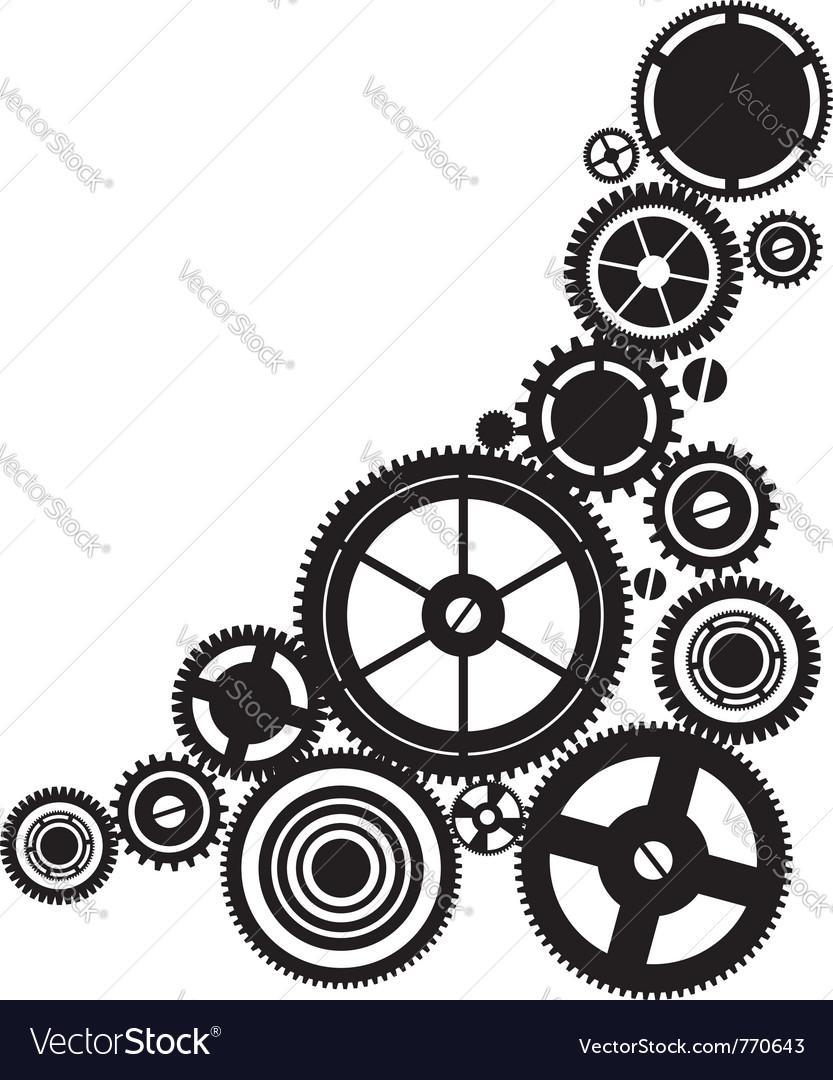 Silhouette clockwork vector image