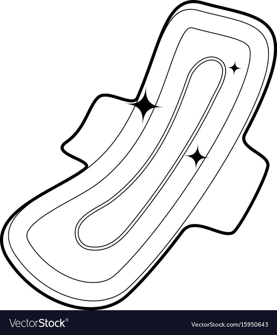 Clean pad icon outline vector image