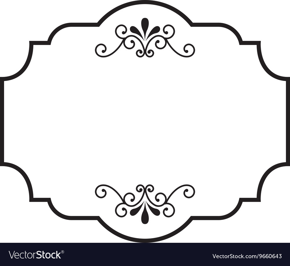 victorian frame design. Victorian Frame Isolated Icon Design Vector Image M