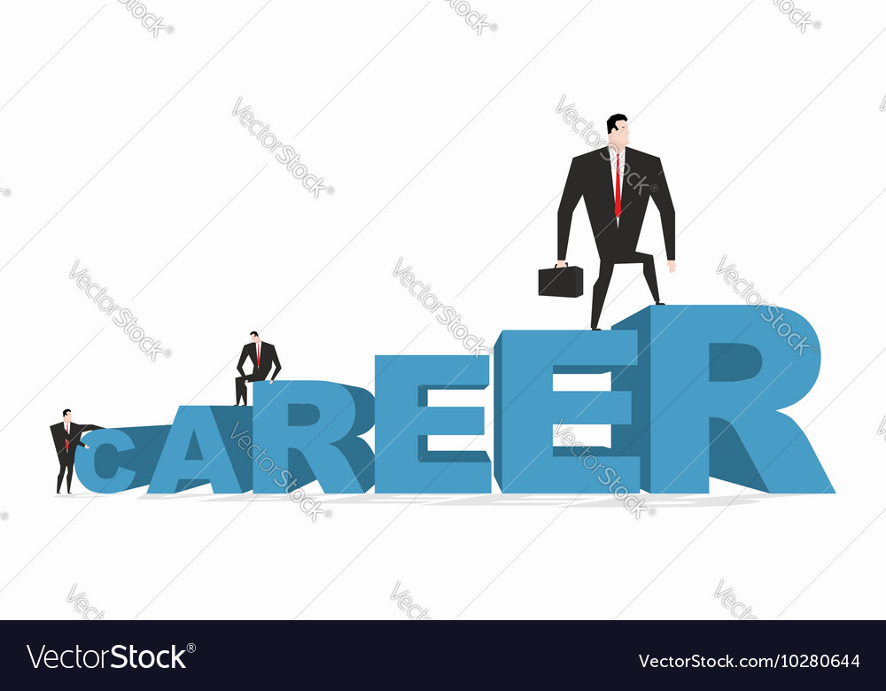 Career ladder Career motivation Achieve improve on vector image