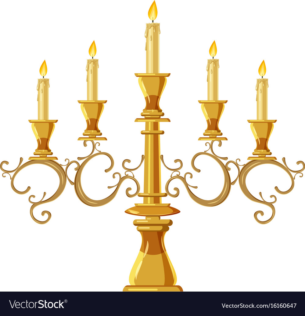 Chandelier with five candles icon cartoon style vector image chandelier with five candles icon cartoon style vector image mozeypictures Choice Image
