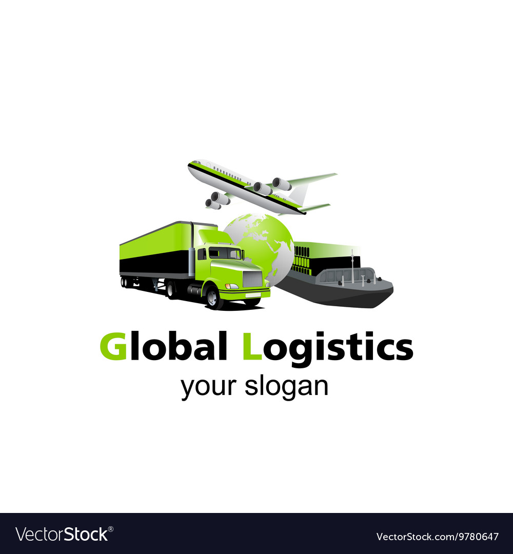global logistic logo royalty free vector image