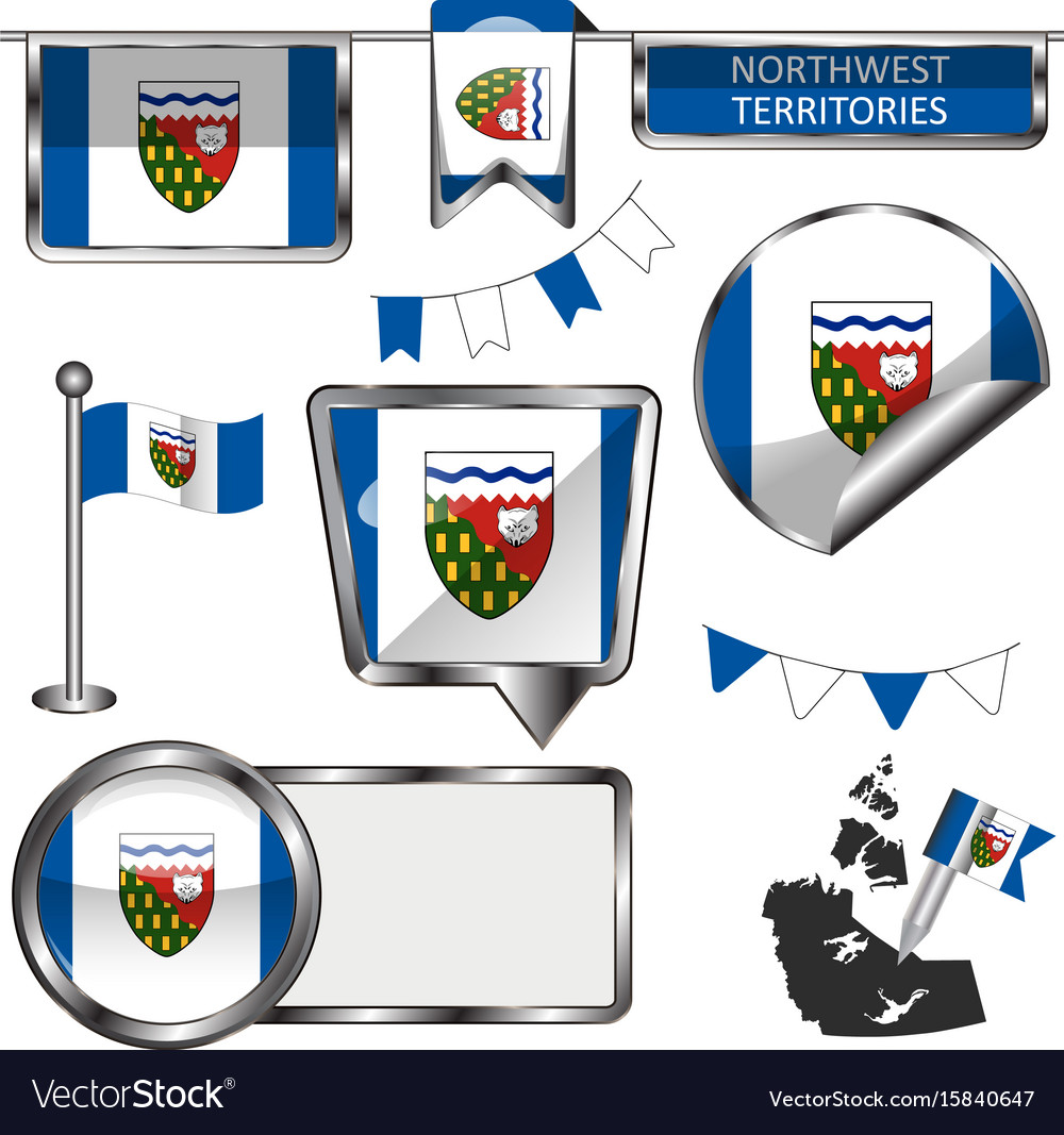 Glossy icons with flag of province northwest vector image biocorpaavc Choice Image