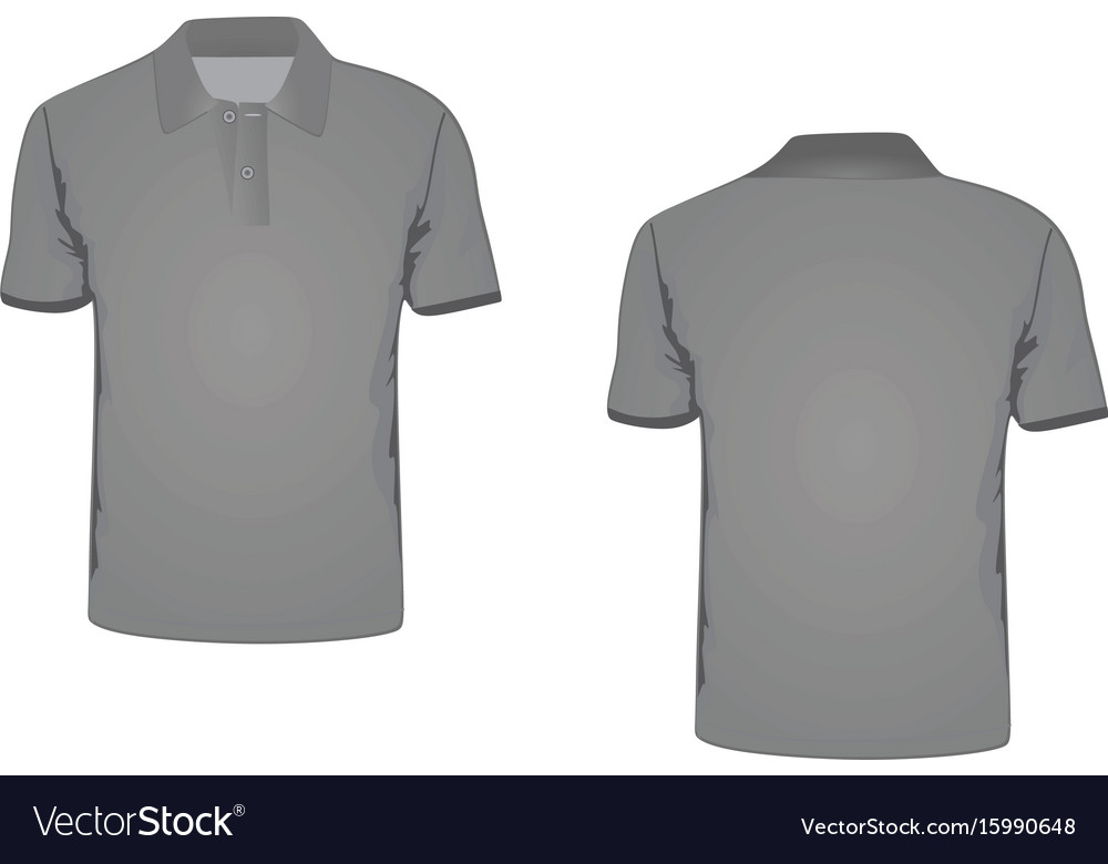 Man polo t-shirt vector image