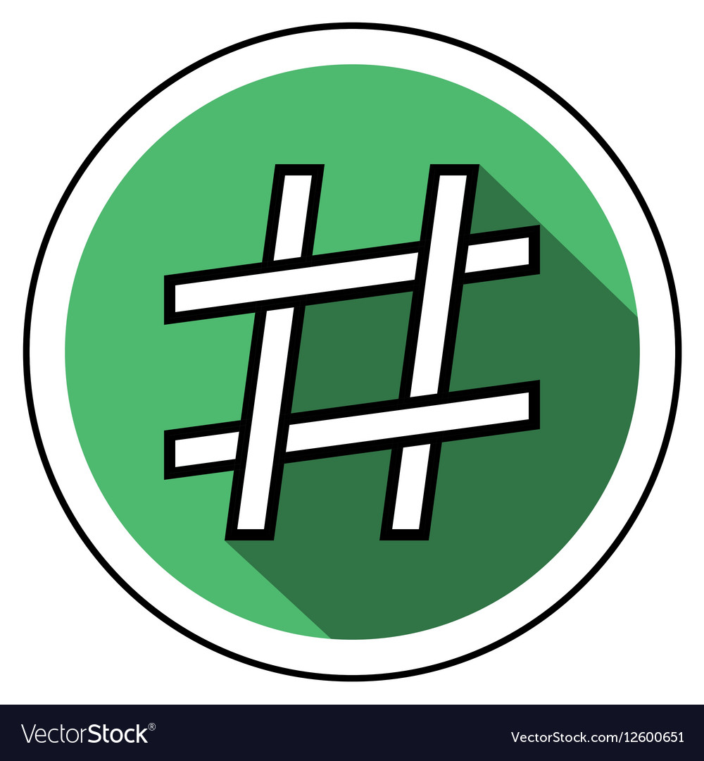 Hashtag icon flat style vector image