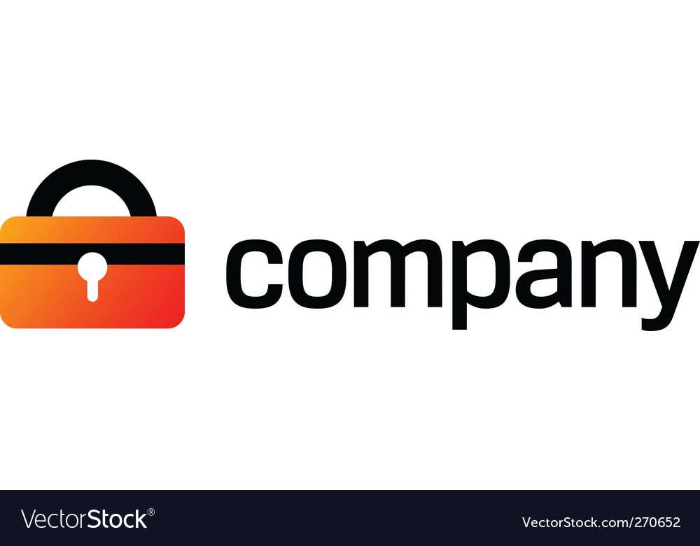 Security lock logo for company Vector Image
