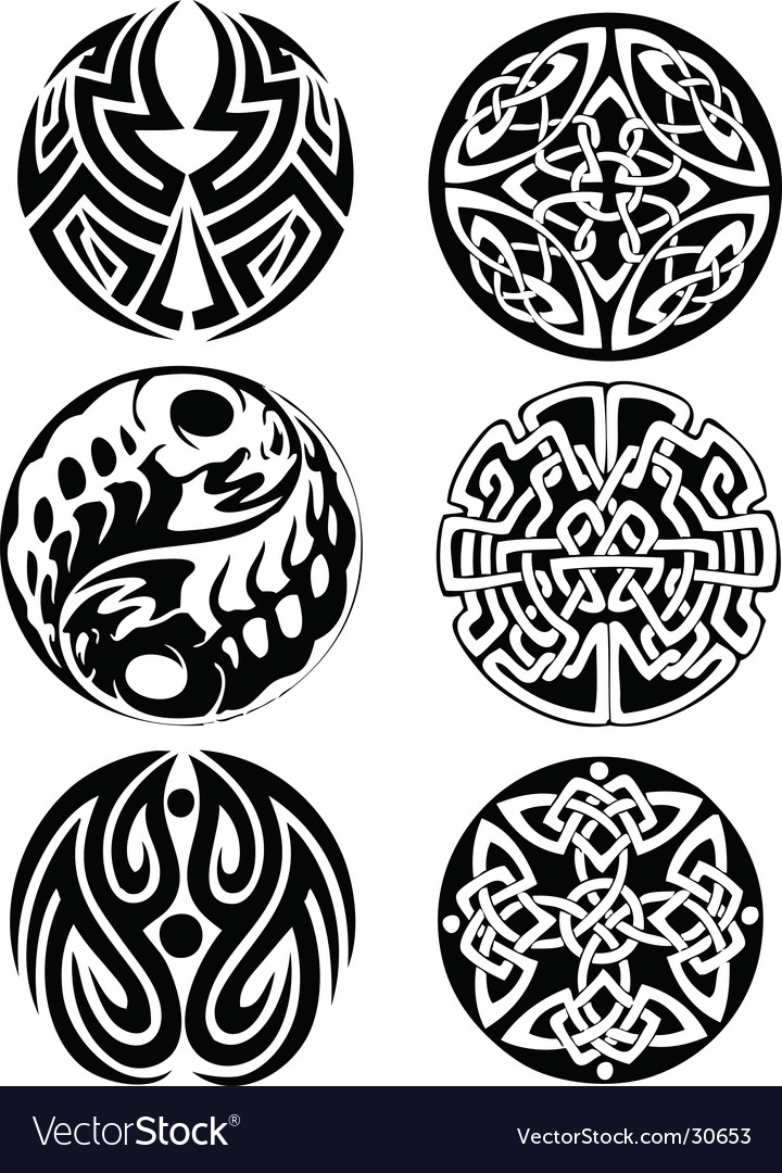 Abstract Celtic design works Vector Image