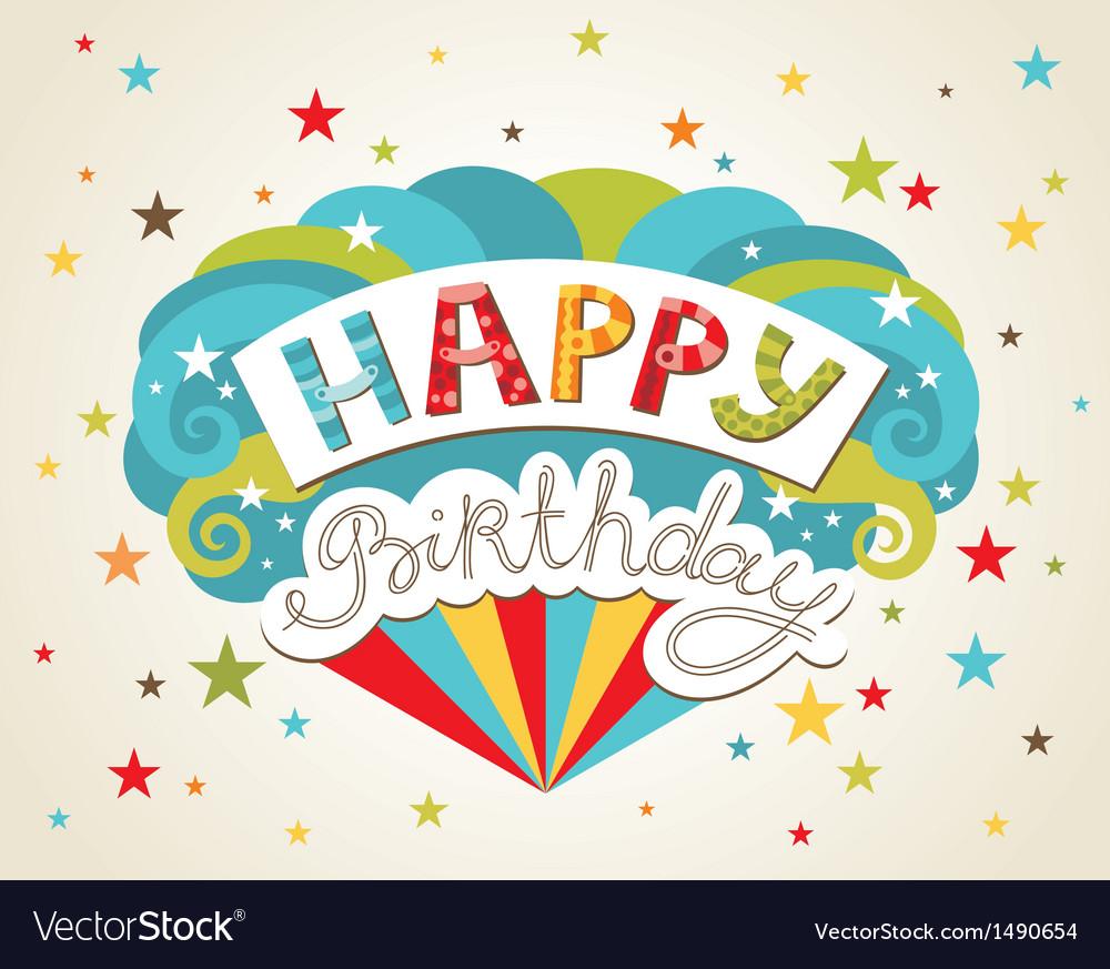 Happy birthday greeting card Royalty Free Vector Image – Image of Birthday Greeting