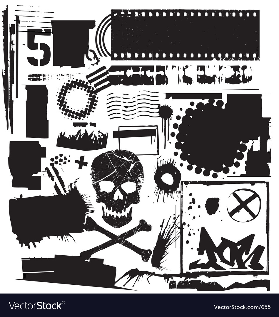 Grunge elements vector image