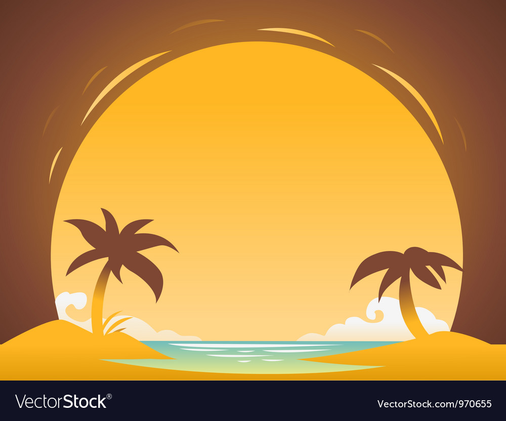 Abstract sunset background for design vector image