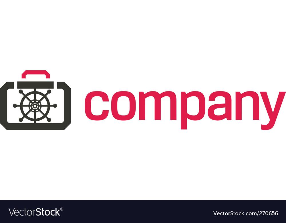 Bank safe logo security vector image