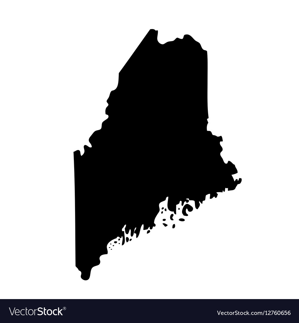 Map of the US state Maine Royalty Free Vector Image