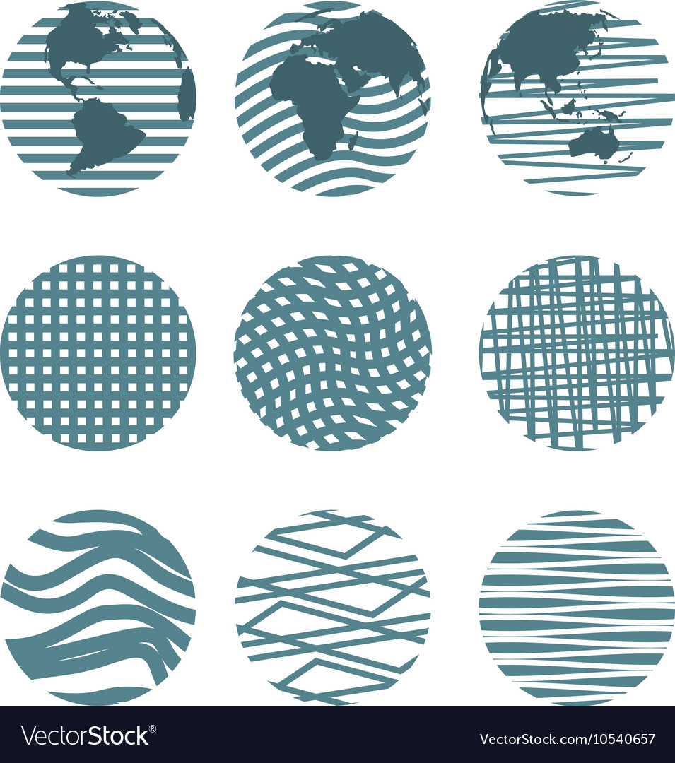 Different circles vector image