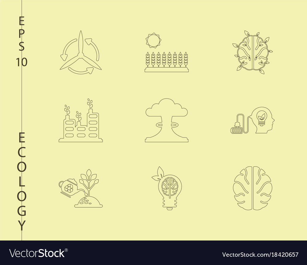 Green ecology and environment icon set in format vector image