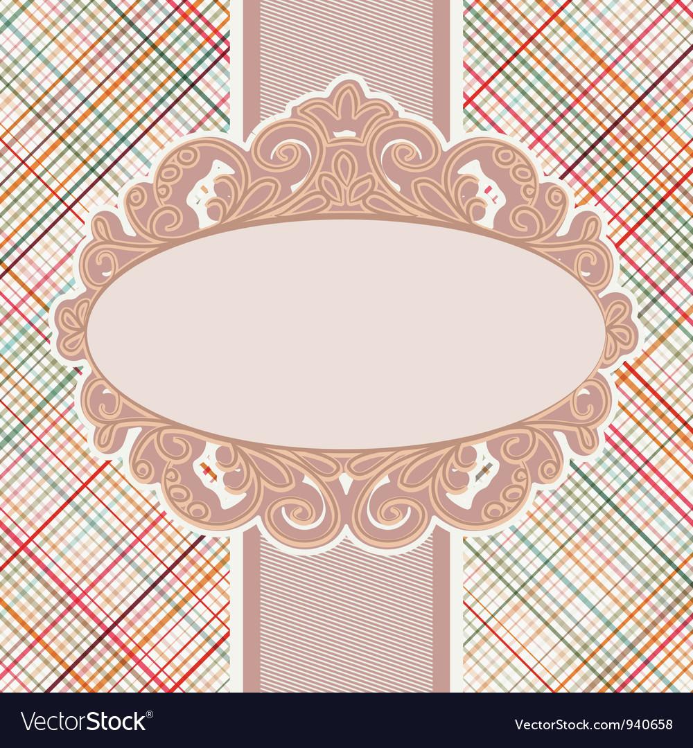 Retro Invitation Card template EPS 8 vector image