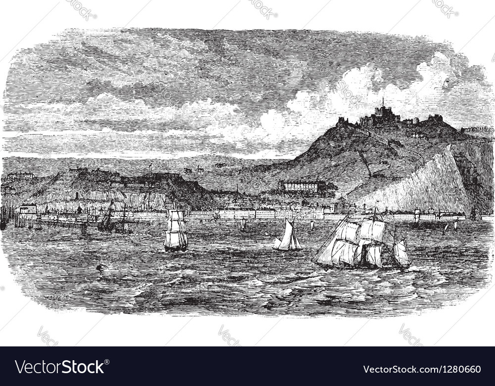Dover vintage engraving vector image