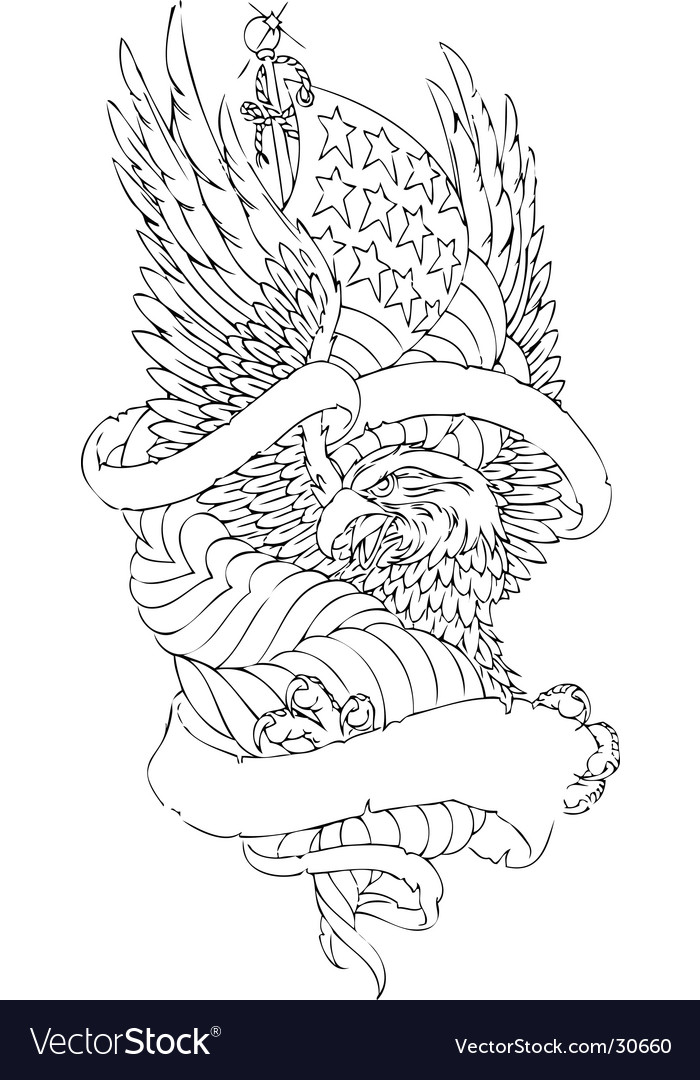 Eagle sketch vector image