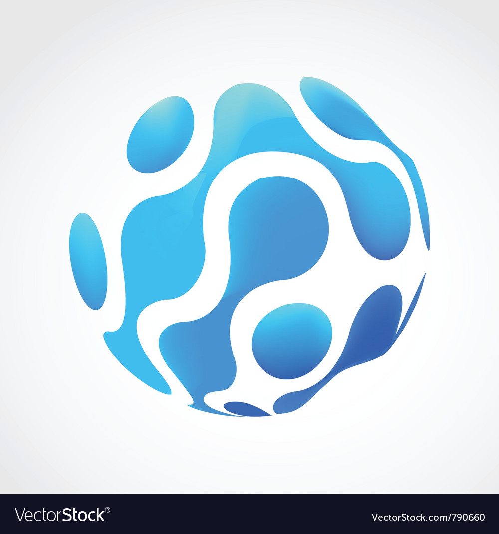 Mesh business abstract icon vector image